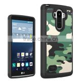 Low price china mobile phone 2 in 1 Armor Army Camouflage Hybrid Case for lg g stylo g4 stylus case made in china