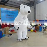 2016 Hot sale giant inflatable polar bear costume