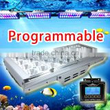 4PCS 40*3W Dimmable Full Spectrum LED Aquarium Light Marine Reef Coral SPS/LPS Lamp, Programmable Timer, Sunrise Sunset
