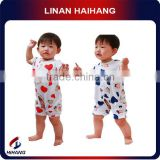Hot sale printed cotton baby clothes knitting patterns