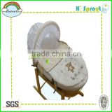 High Quality Corn Husk Portable Baby Moses Basket for Newborn