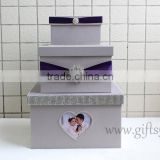 Luxury money box for wedding with photo frame