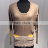 BGAX020 Hot sale wool cashmere knitted pullover korean sweater