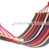 beautiful welcomed outdoor striped resting camping hammock
