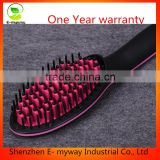 New pro styler new hair curling brush hair straightening straight ceramic flat iron comb as seen on tv salon equipment