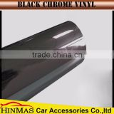 Car Accessories styling foil Strechable Film Red Chrome Vinyl Roll to Chrome Black wrap vinyl for Easy Install Car Wrapping