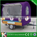 China Made Hot Selling Street Vending Carts/Food truck for sale in china Mobile Fast Kiosk/Fast Mobile Food Trailer KN-FR220W