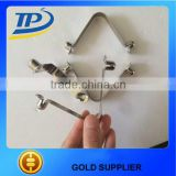 Tuopu steel push button clip nickle plated spring clip hot sale