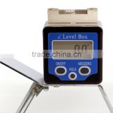 360 degree Digital Inclinometer with spirit bubble digital Protractor Bevel Box digital angle meter