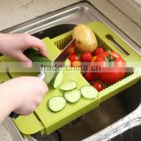 Wholesale Stock Kitchen Vegetable&Fruit Plastic Chopping Board Drain Board Draining Rack Storage Rack