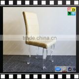 hot sale top quality fancy acrylic dining chair elegant design dining chair with acrylic leg PMMA lucite acrylic furniture leg