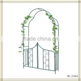 New design black color metal garden arbor