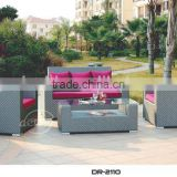 Fashion rattan outdoor furniture factory PE rattan woven outdoor sofa set furniture