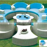 English garden furniture/7 seater outdoor rattan furniture/Rattan sofa set/Wicker patio set (BF10-R98)