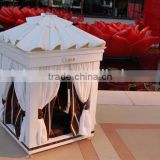 Luxury & High Quality Wooden Pet Dog Bed House, Noble White Cozy Craft Pet Bed - BF07-80073