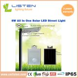 8W/12W Integrated Solar LED Street Light CE RoHS IP65 Approved