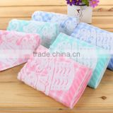 Super quality baby 100% cotton hooded bath towels for supermarket