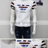 China Fashion printed plian slim fit short sleeve men t shirt