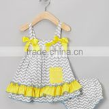 New Style Baby Girl Clothing Set Including Top And Diaper Cover Cute Infant Suit Fancy Toddler Wear CS90425-12