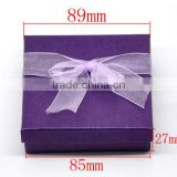 Dark Purple Jewelry Gift Boxes Display for Bracelet &Watch Fit European Charm 90mmx90mmx30mm, sold per packet of 6,Bulk