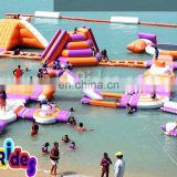 commercial outdoor floating inflatable water park