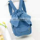 Bow washed denim backpack personality wholesale high capacity backpack