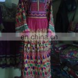 Special Tribal Afghan Dress with ethnic Kuchi Embroidery