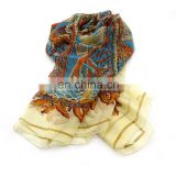 New Colorful Glitter Print Pashmina, Multicolor Shimmer Long Silk Feel Chiffon Shawl, Winter Chiffon Hijab Muslim Scarf