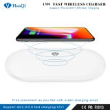 High Quality 15W Fast Qi Wireless Charger Charging Pad for iPhone/Samsung/LG/Nokia/Huawei/Xiaomi