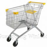 Supermarket shopping before shopping cart was invented