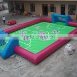 Factory price inflatable soccer field for sale,inflatable soccer field for kids fun,inflatable soap soccer field