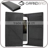Guangzhou Wholesale Genuine Saffiano leather wallet Mobile Phone Bag suit for Iphone6