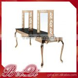 Antique hair salon furniture supplies,4-face two sides led makeup dressing salon mirror table