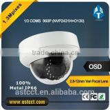 outdoor 1.3MP HD 960P AHD CMOS sensor Color IR 30M Varifocus lens Mental housing Dome CCTV Camera support IP66 and OSD menu