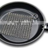 Cast Iron Pans Cleaner Stainless Steel Chainmail Scrubber