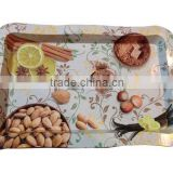 OEM custom design antique metal serving tin trays