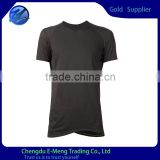 Wholesale Solid Color Stylish Blank Tshirt in Black for Men