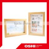 Home design wooden photo picture frame, wood word picture frames, latest design of photo frame