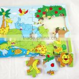 Children 3D Wooden Cube Jigsaw Puzzle