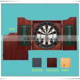 Cabinet Realistic Finish Set Walnut Dartboard Gameroom Trademark Darts BoardLuxury MDF Wood Dart Cabinet