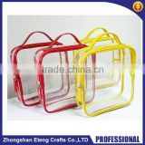 Innovative custom-size transparent pvc cosmetic bags with zipper