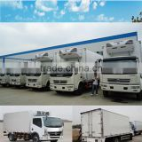 Small size refrigerated truck body made with frp panels