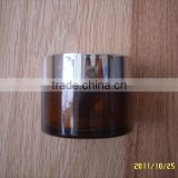 30ML(1 OZ) Amber Glass with Glod Cap Empty Refillable Cosmetic Cream Jar Pot Bottle Container