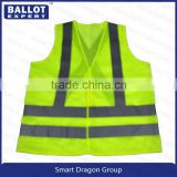 China factory wholesale Nylon net yarn fabrics reflective vest pockets
