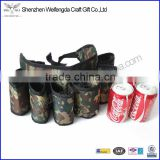 Simple design large capacity green camouflage fabric beer belt