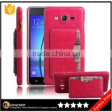 Ultra Slim Litchi Grain PU New Back Cover case for Samsung Galaxy Grand On5
