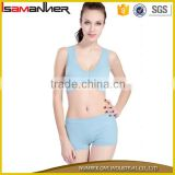 Lady boxer underwear school nude sexy girls push up plain sport bra with panties                                                                                                         Supplier's Choice