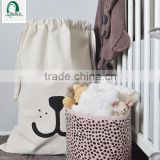 Fashion promotional white cotton drawstring bags, 100% cotton drawstring shopping bags manufacturers