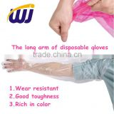 PE Disposable veterinary long sleeve gloves