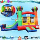 Commercial balloon combo inflatable bouncer with slide for sale